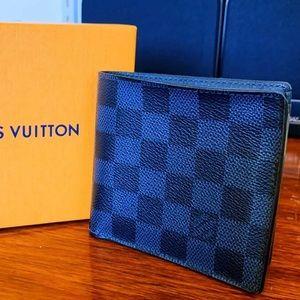 LOUIS VUITTON Damier Cobalt Marco Wallet w box bag